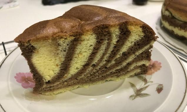 Пирог Зебра на кокосовом молоке