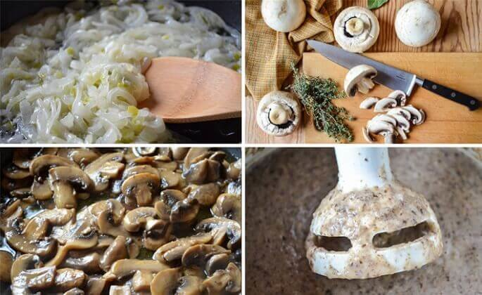 Пошаговый рецепт приготовления супа-пюре из шампиньонов