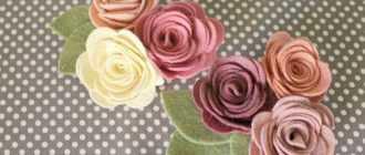 Розы из фетра своими руками: фото и шаблоны