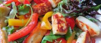 Салат с жареным сыром: выбор продуктов, рецепт, порядок приготовления, фото