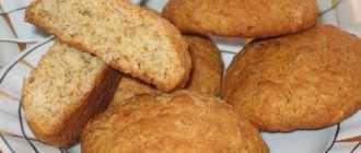 Рецепт овсяных печений с медом