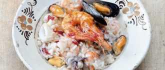 Ризотто с морепродуктами: классический рецепт, ингредиенты, особенности приготовления