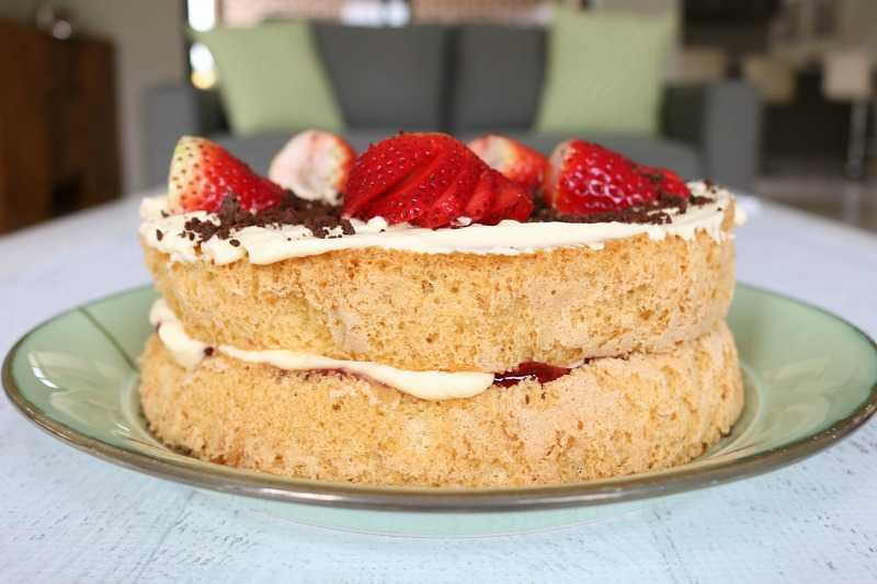 торт с джемом