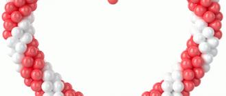 Как сделать сердце из шаров своими руками