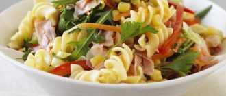 Рецепт приготовления макарон с ветчиной