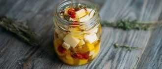 Сыр маринованный в масле