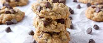 Простой рецепт овсяного печенья с шоколадом