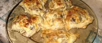 Вкусные куриные отбивные с грибами и сыром: пошаговый рецепт приготовления