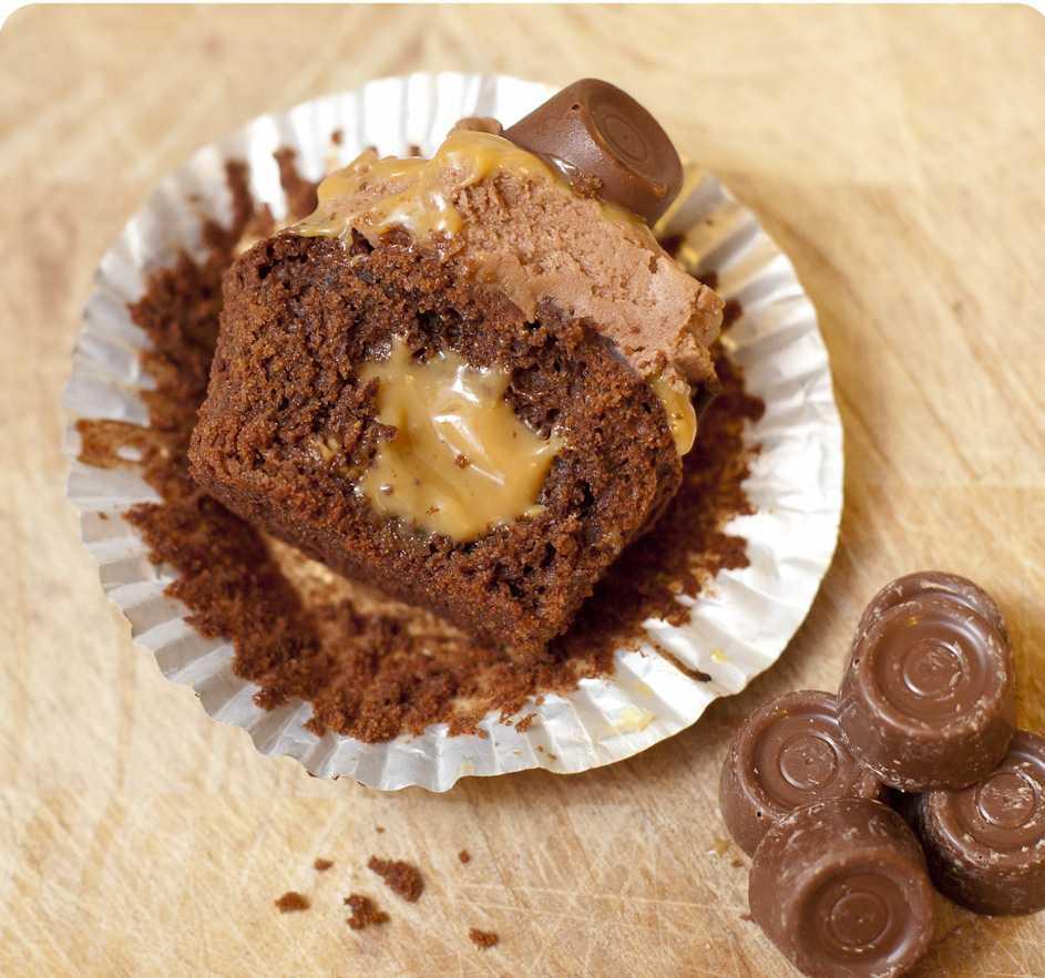 Шоколадные кексы со сгущенкой