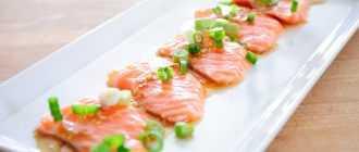 Карпаччо из лосося: рецепт и способ приготовления