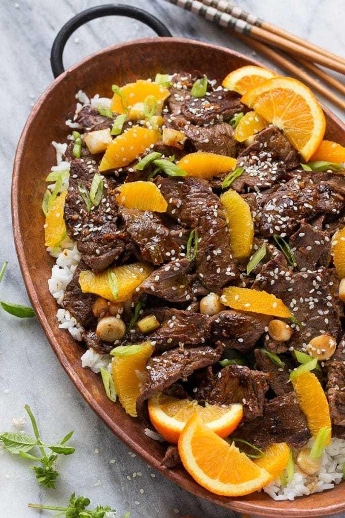 Говядина с апельсинами: рецепт приготовления, ингредиенты и описание с фото