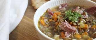 Суп с чечевицей и копченостями: рецепт приготовления, ингредиенты, особенности