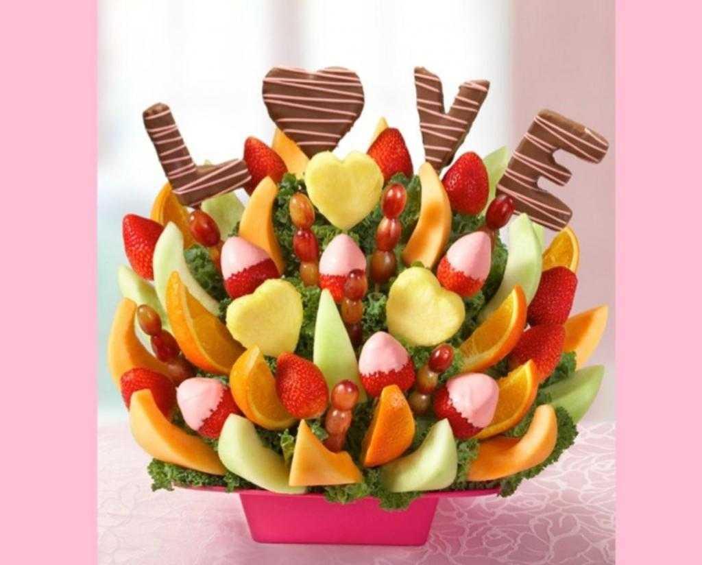 как украсить фрукты шоколадом