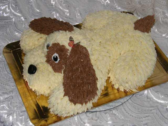 "Рецепт вкусного торта в виде животного ""Собачка"""