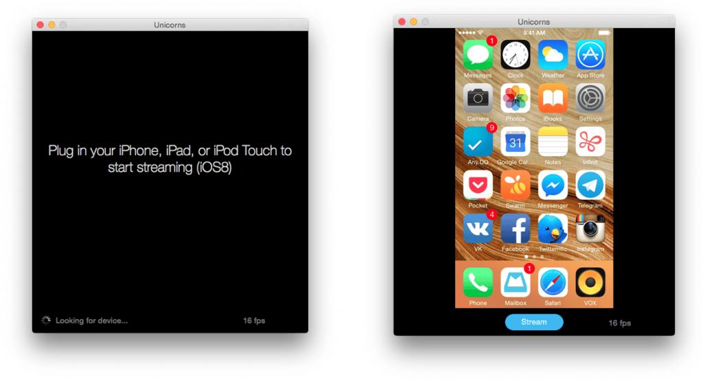 Streaming Unicorns — самый простой способ организовать трансляцию экрана iPhone или iPad