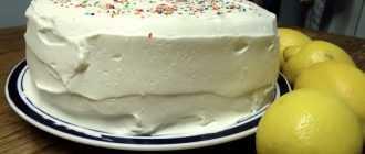 Крем из масла и сахара для бисквита: рецепт приготовления