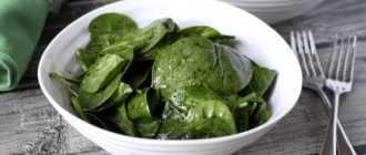 10 вкусных салатов со шпинатом