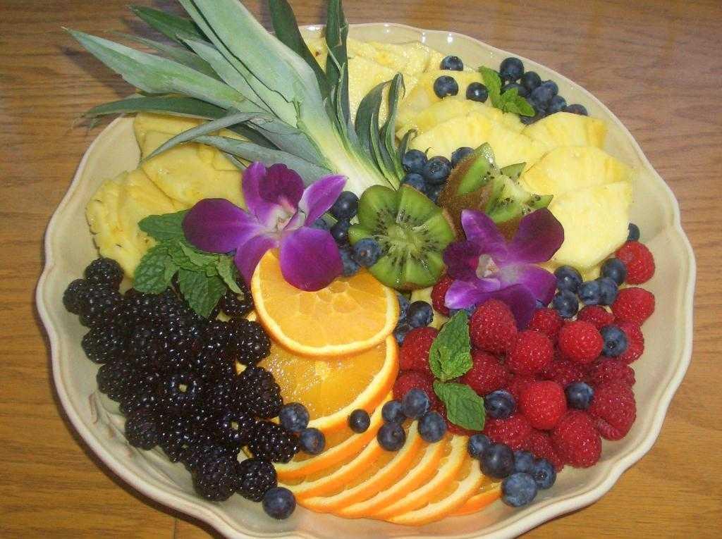 как красиво украсить фрукты