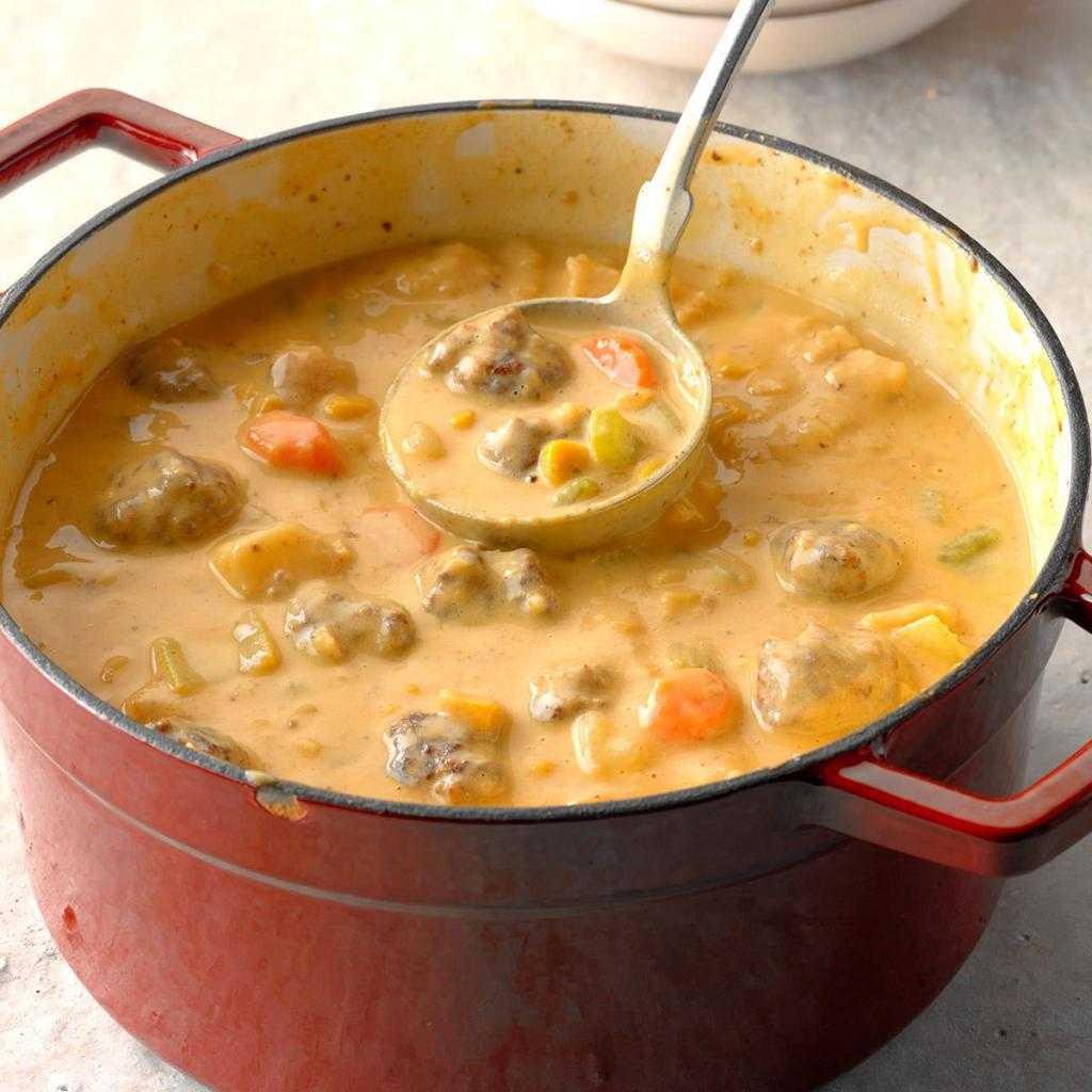 Суп с фрикадельками и сыром: рецепт с фото