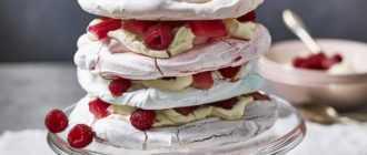 Торт с меренгой и бисквитом: ингредиенты и рецепт приготовления