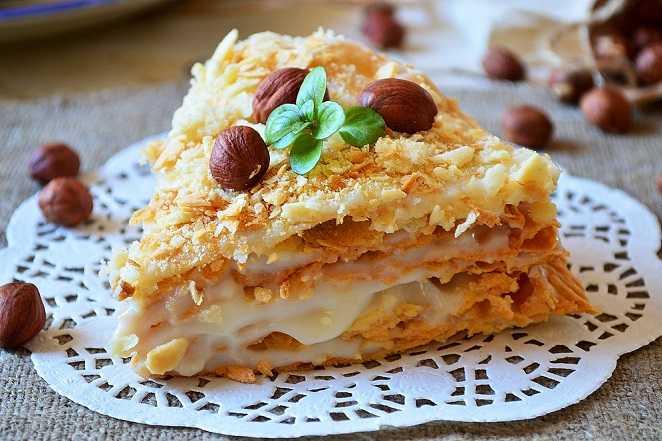 """Крем для торта """"Наполеон"""" из слоеного теста: ингредиенты, рецепт, советы по приготовлению. Заварной крем классический для """"Наполеона"""""""