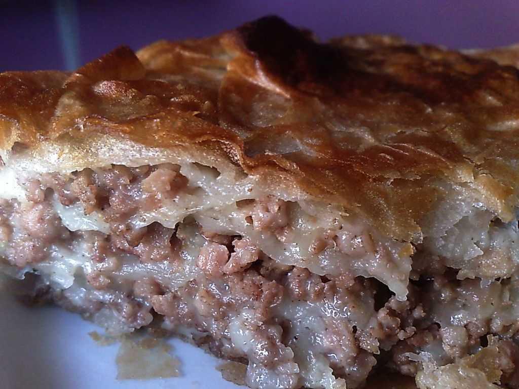 Мясной пирог на кефире с фаршем: рецепты
