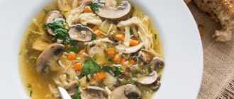 Суп с курицей и шампиньонами: рецепты приготовления