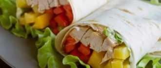 Шаверма с курицей в лаваше: рецепт с фото