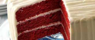 """Торт """"Красный бархат"""": классический рецепт с фото"""