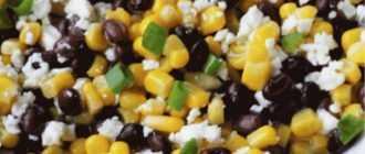 Салат: сухарики, кукуруза, фасоль, чеснок - импровизации на тему